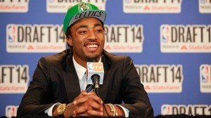 """Isn't it cool how it says Celtics under the brim of my cap?"""